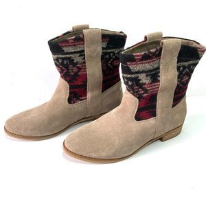 Toms Laurel Aztec Tribal Boots